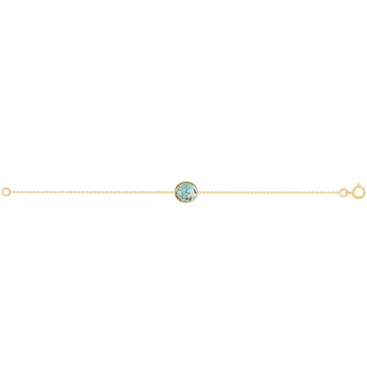دستبند زنجیری فیروزه دایره پرسته