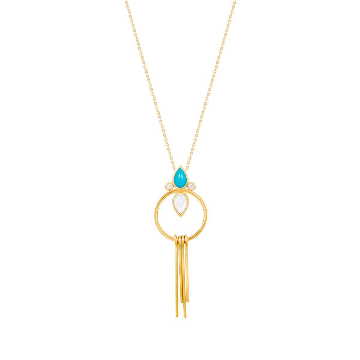 گردنبند طلا آتنا (الهه زیبایی و هنر)|parasteh