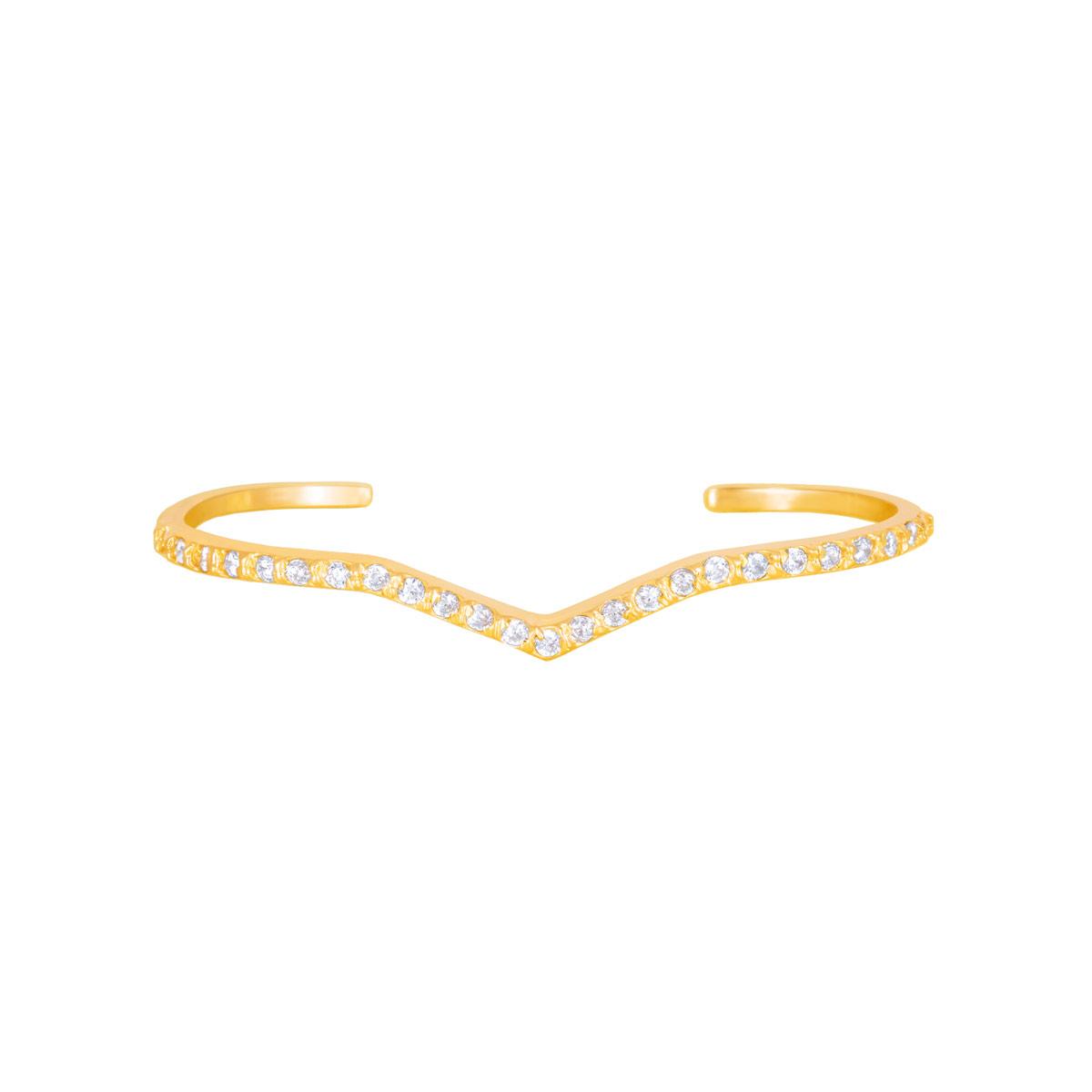 انگشتر طلا دو انگشتی آدینا |parasteh