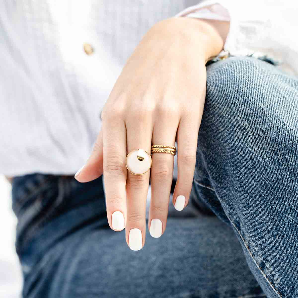 انگشتر طلا لوتوس