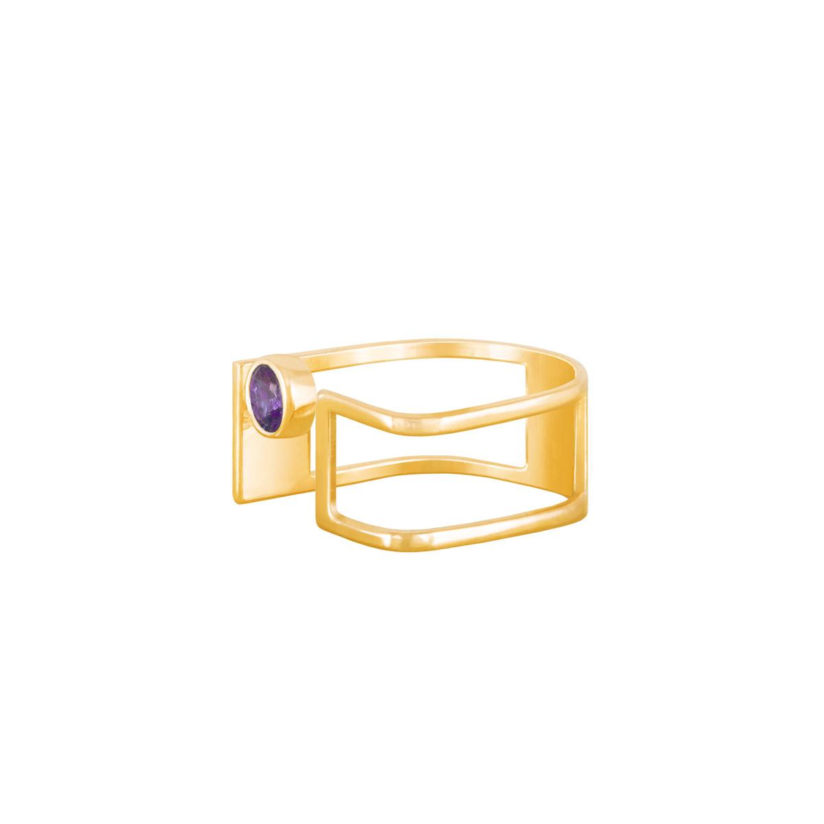 انگشتر طلا دایره بنفش پرسته