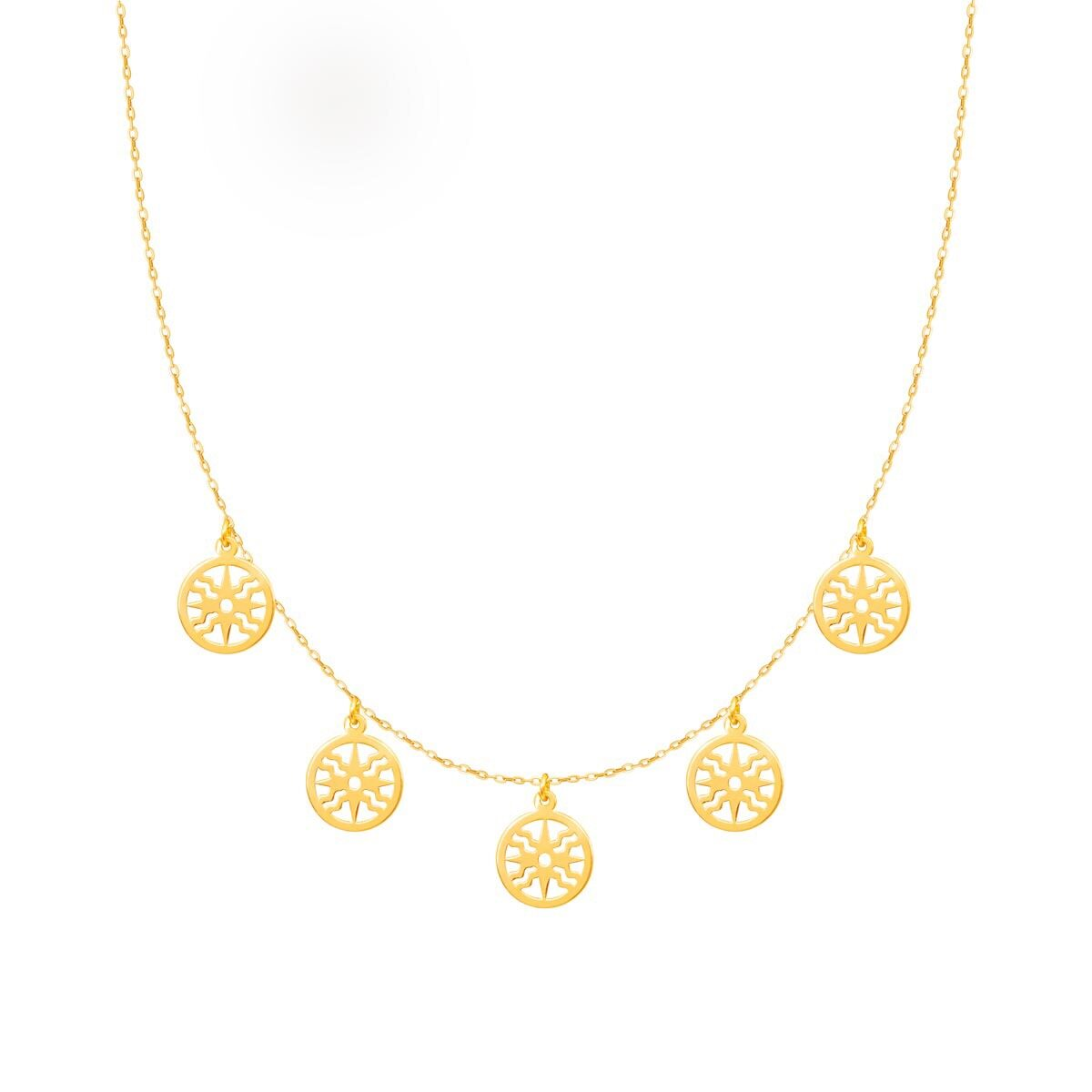 گردنبند طلا خورشید پرسته |parasteh