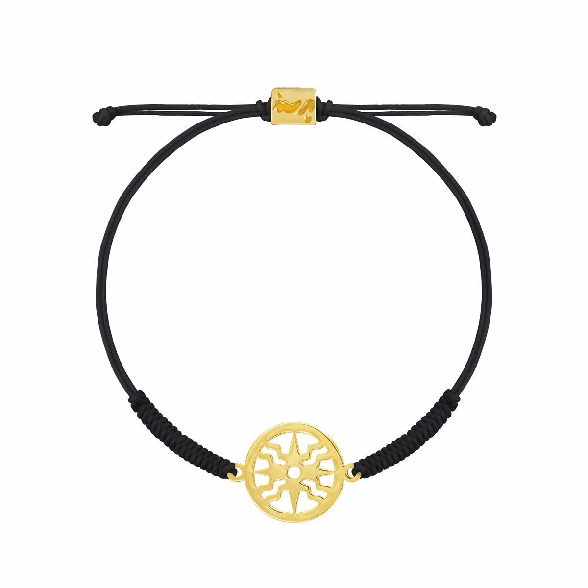 دستبند بافت طلا خورشید پرسته