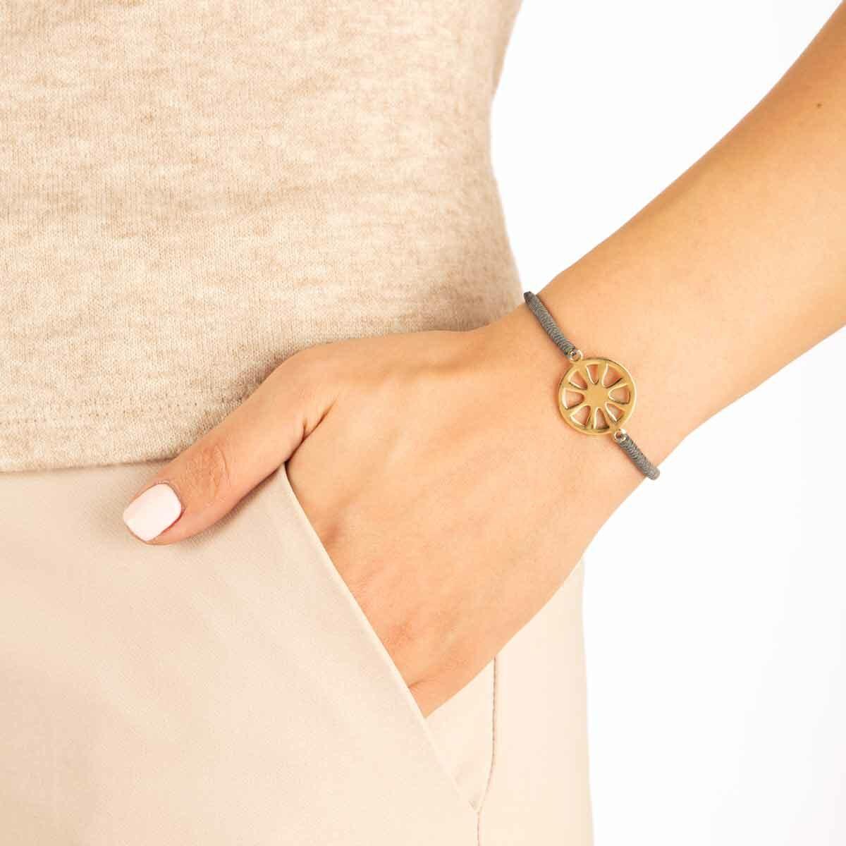 دستبند طلا بافت شمس پرسته