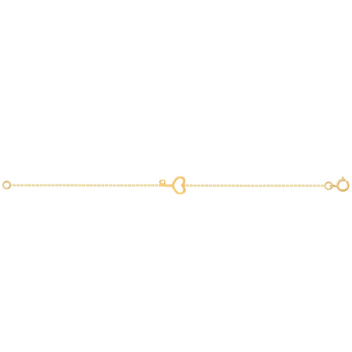 دستبند طلا قلب و کلید پرسته