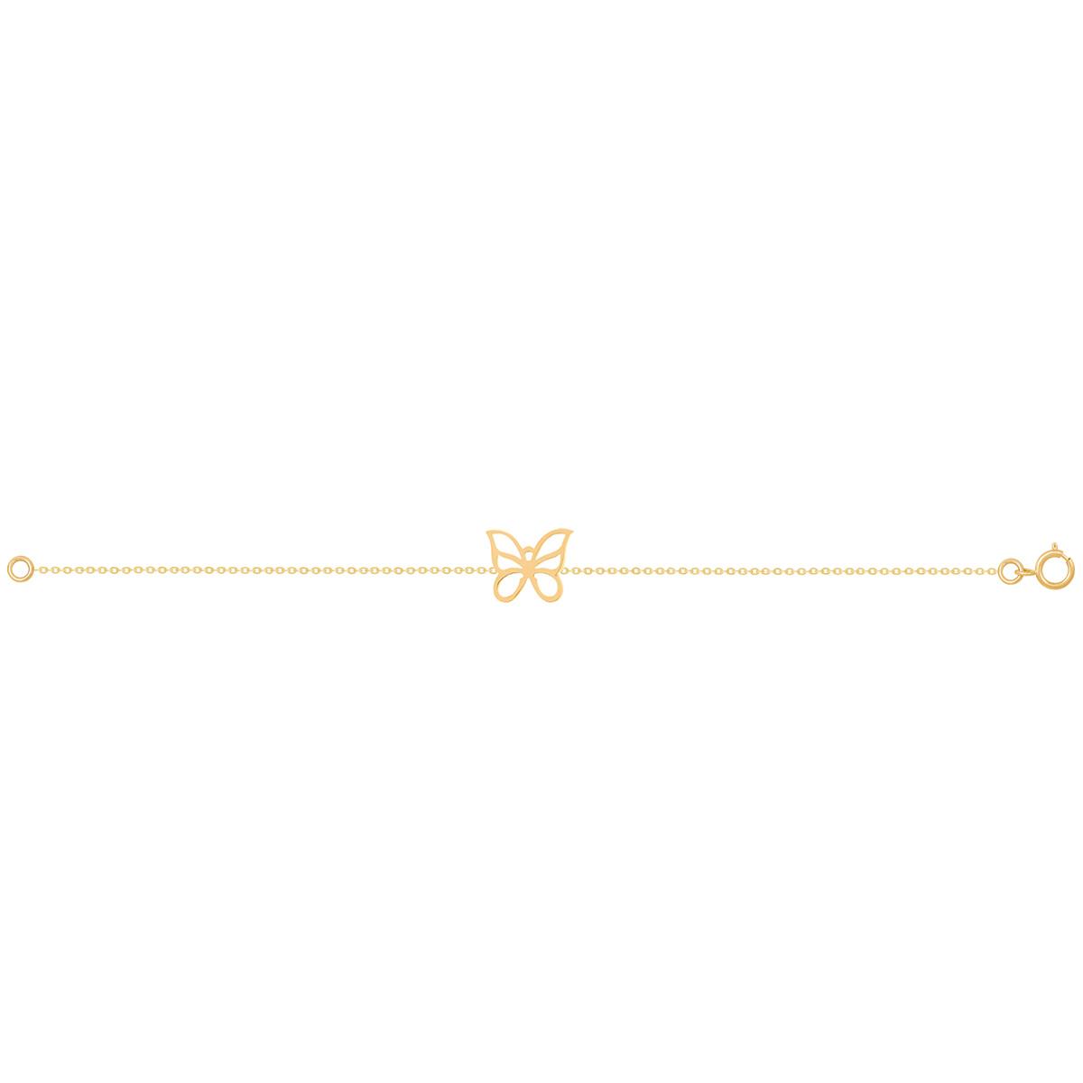 دستبند طلا پروانه پرسته