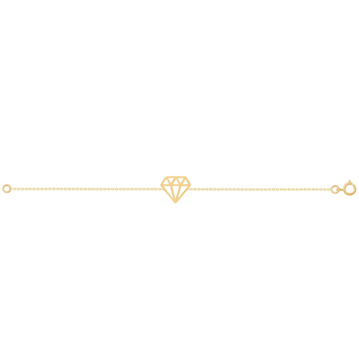 دستبند طلا الماس پرسته