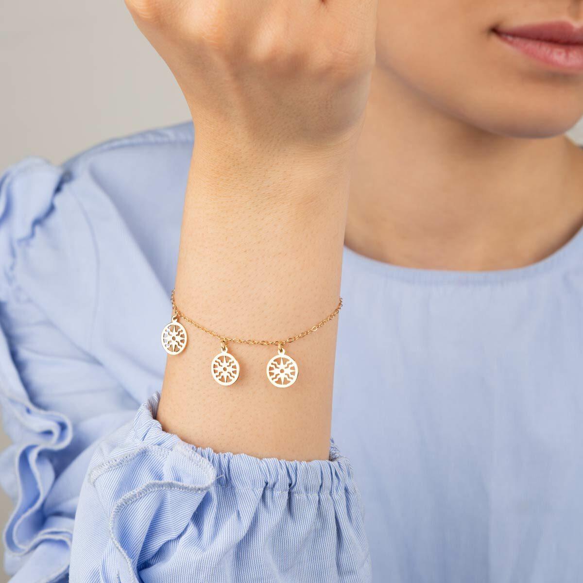 دستبند طلا خورشید