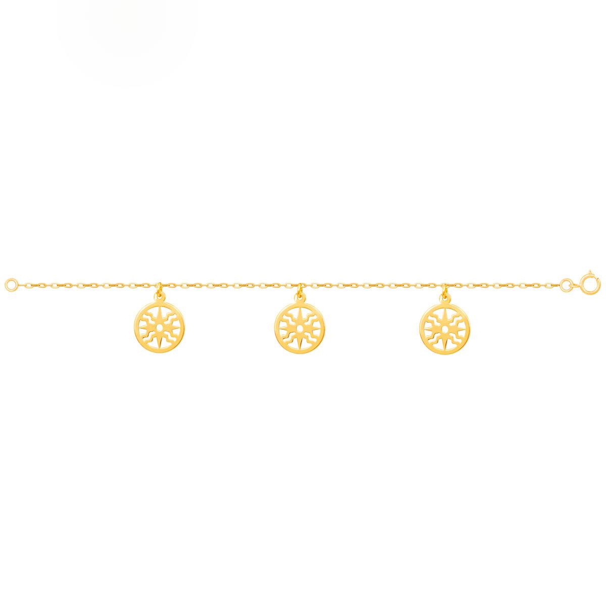دستبند طلا خورشید پرسته