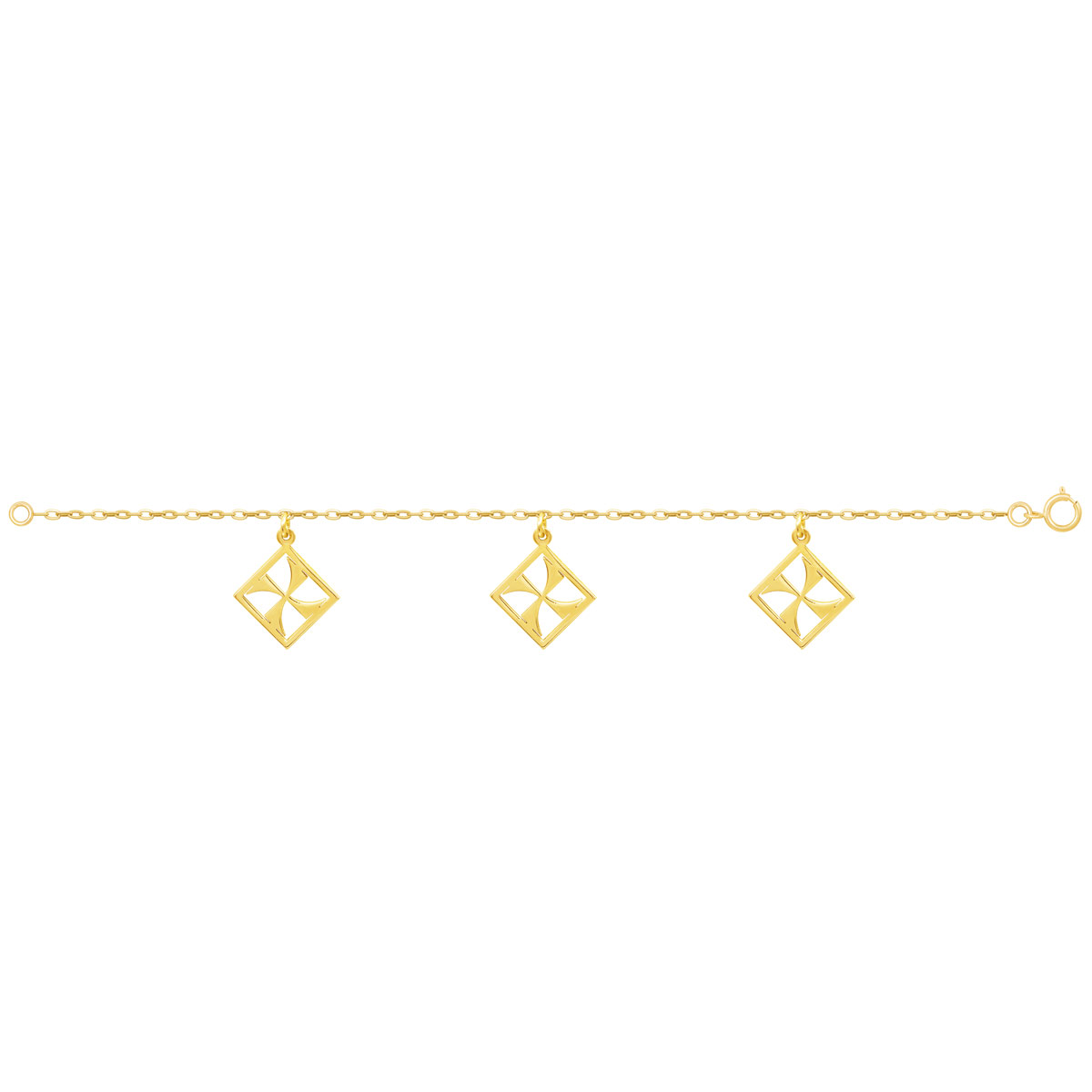دستبند طلا مهر پرسته