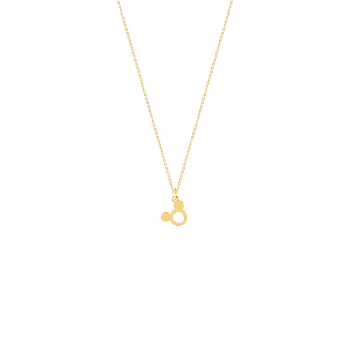 گردنبند طلا Mickey Mouse (توخالی) پرسته