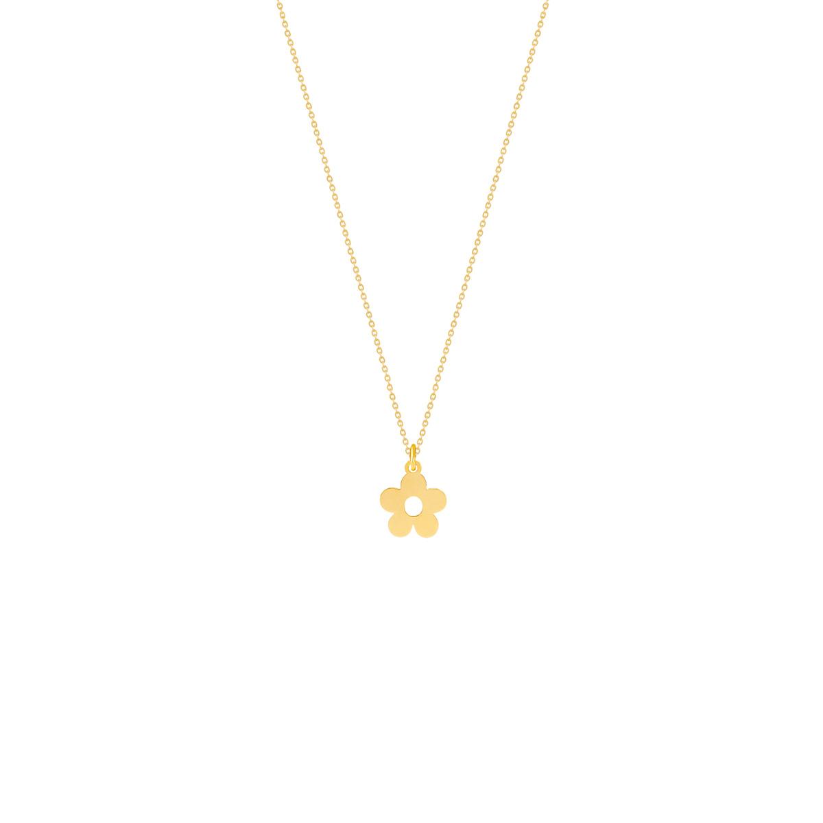 گردنبند طلا گل پرسته