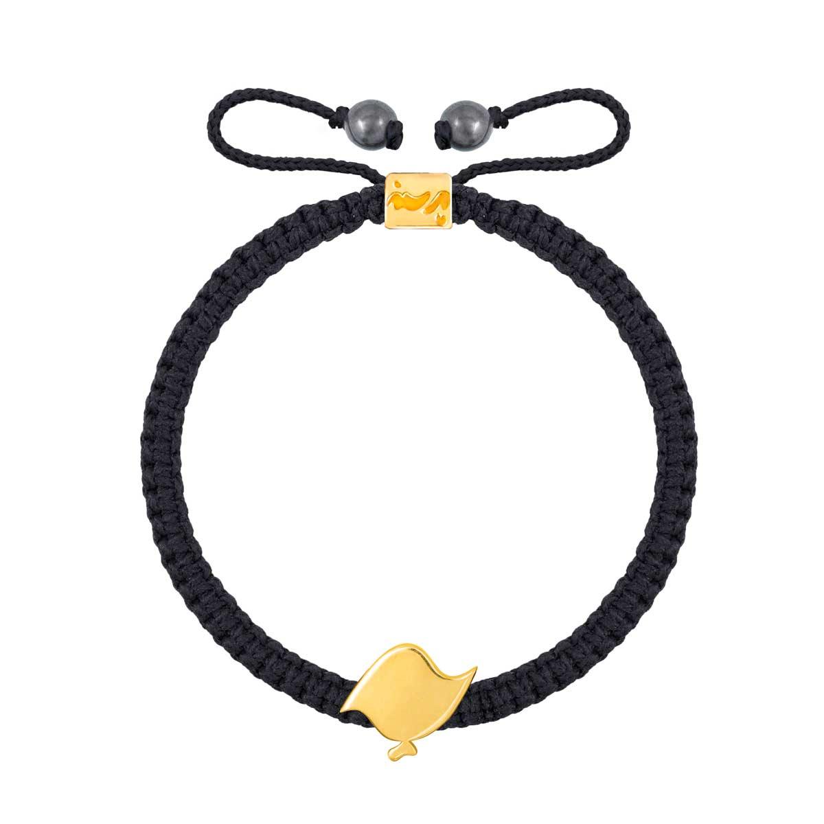 دستبند طلا بافت حرف پ