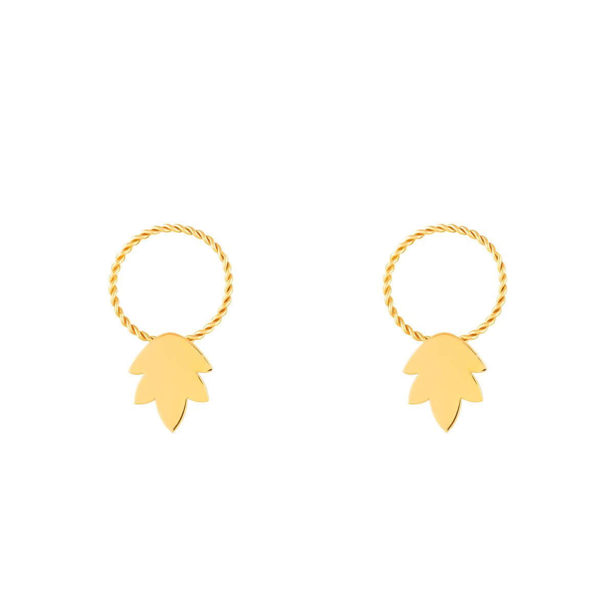 گوشواره طلا برگ ایشتار