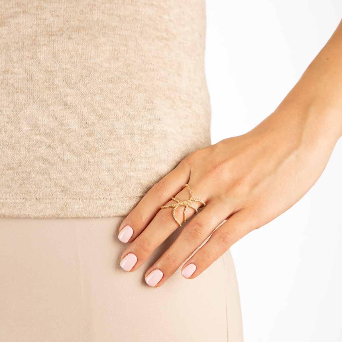 انگشتر طلا پرسته Lady gaga