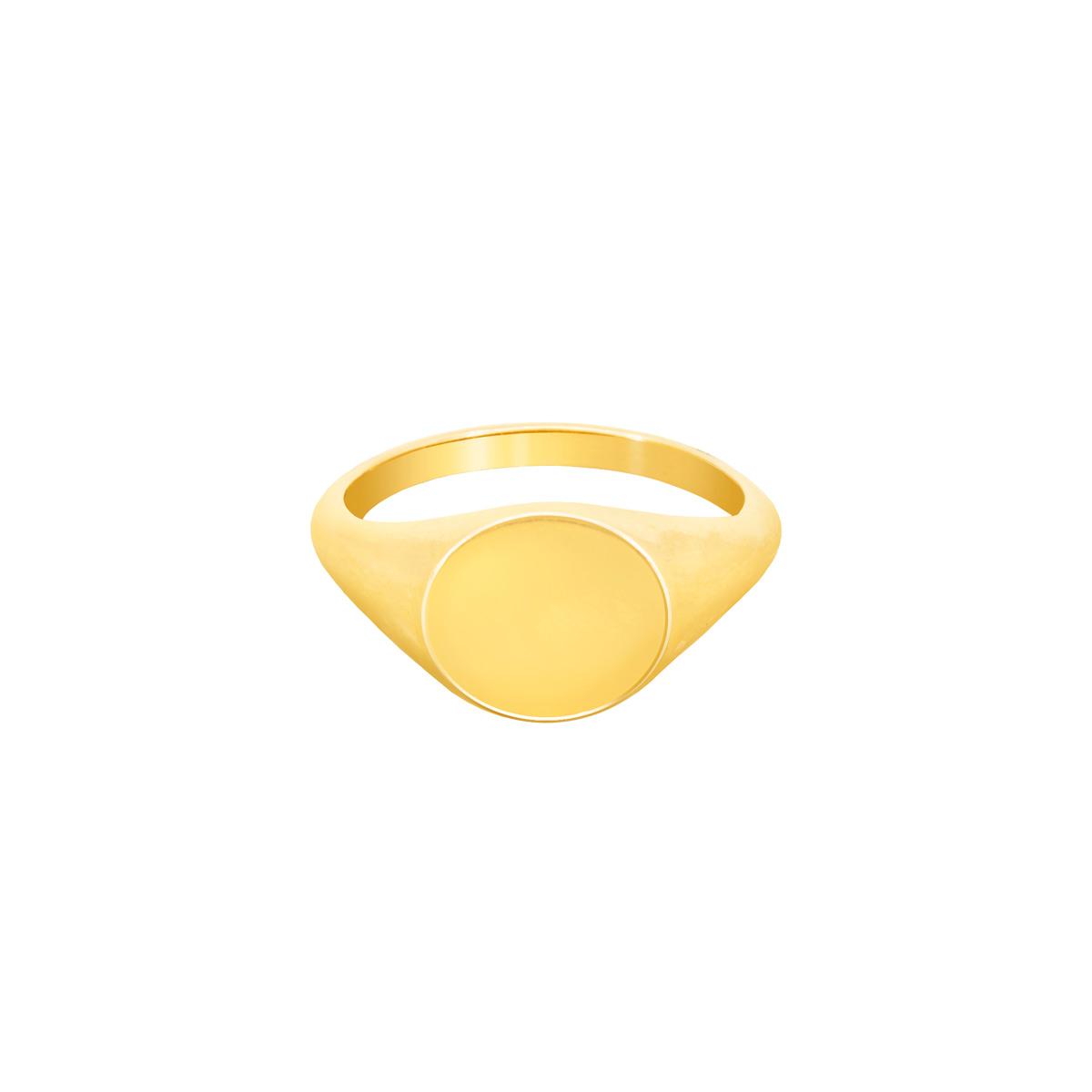 انگشتر طلا پینکی رینگ ساده پرسته