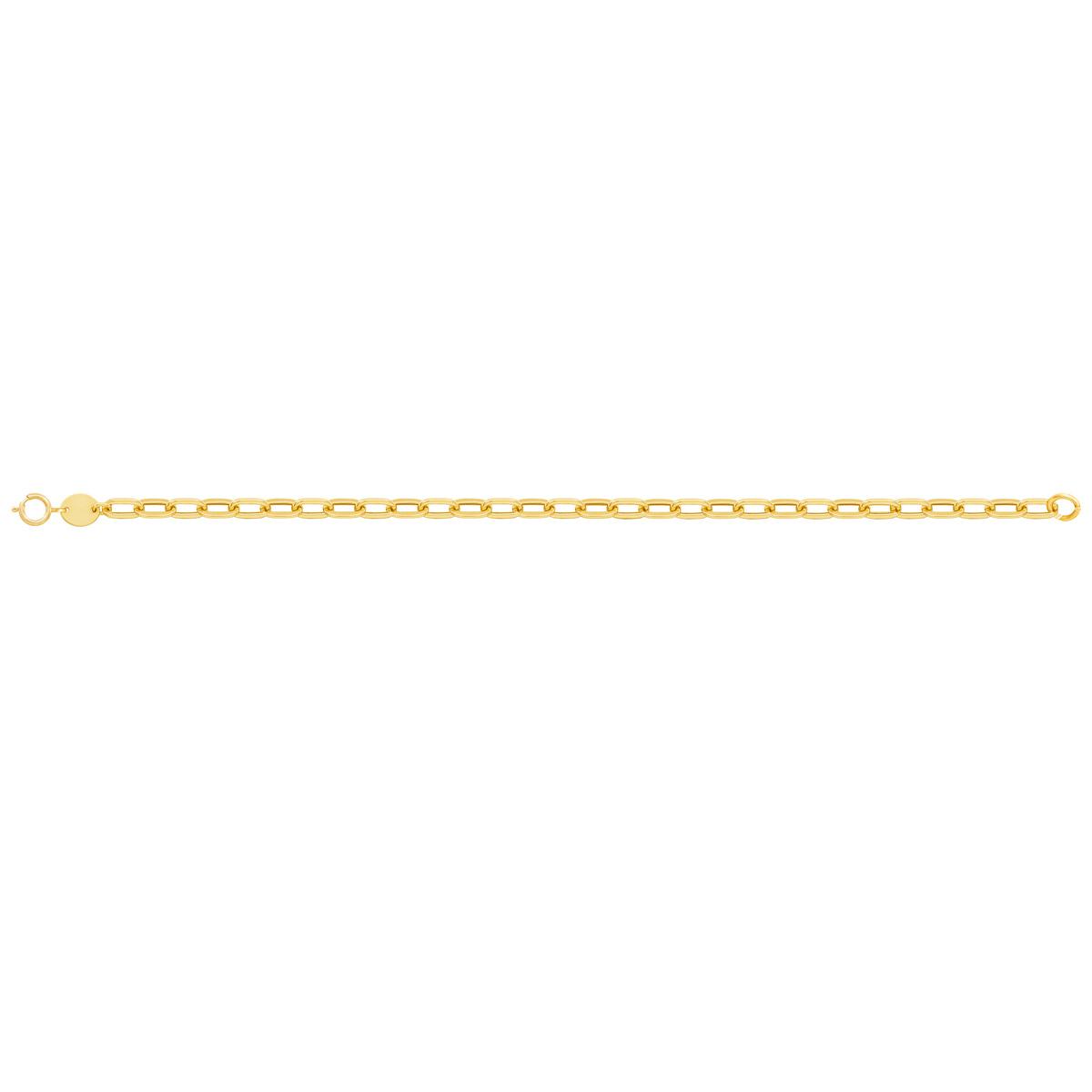 پابند طلا زنجیر حلقه ای پرسته