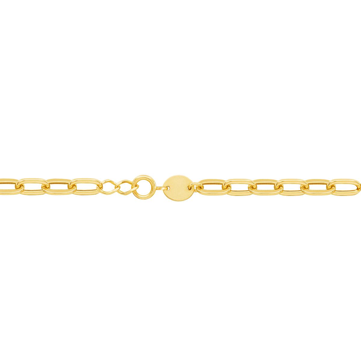 دستبند طلا زنجیر حلقه ای پرسته