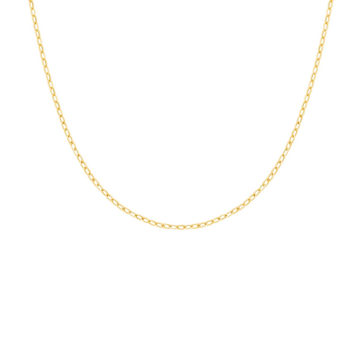 گردنبند طلا زنجیر حلقه ای پرسته