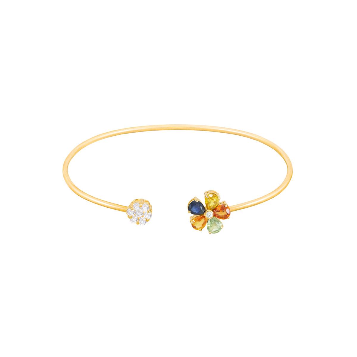 النگو طلا multicolor و Flower پرسته