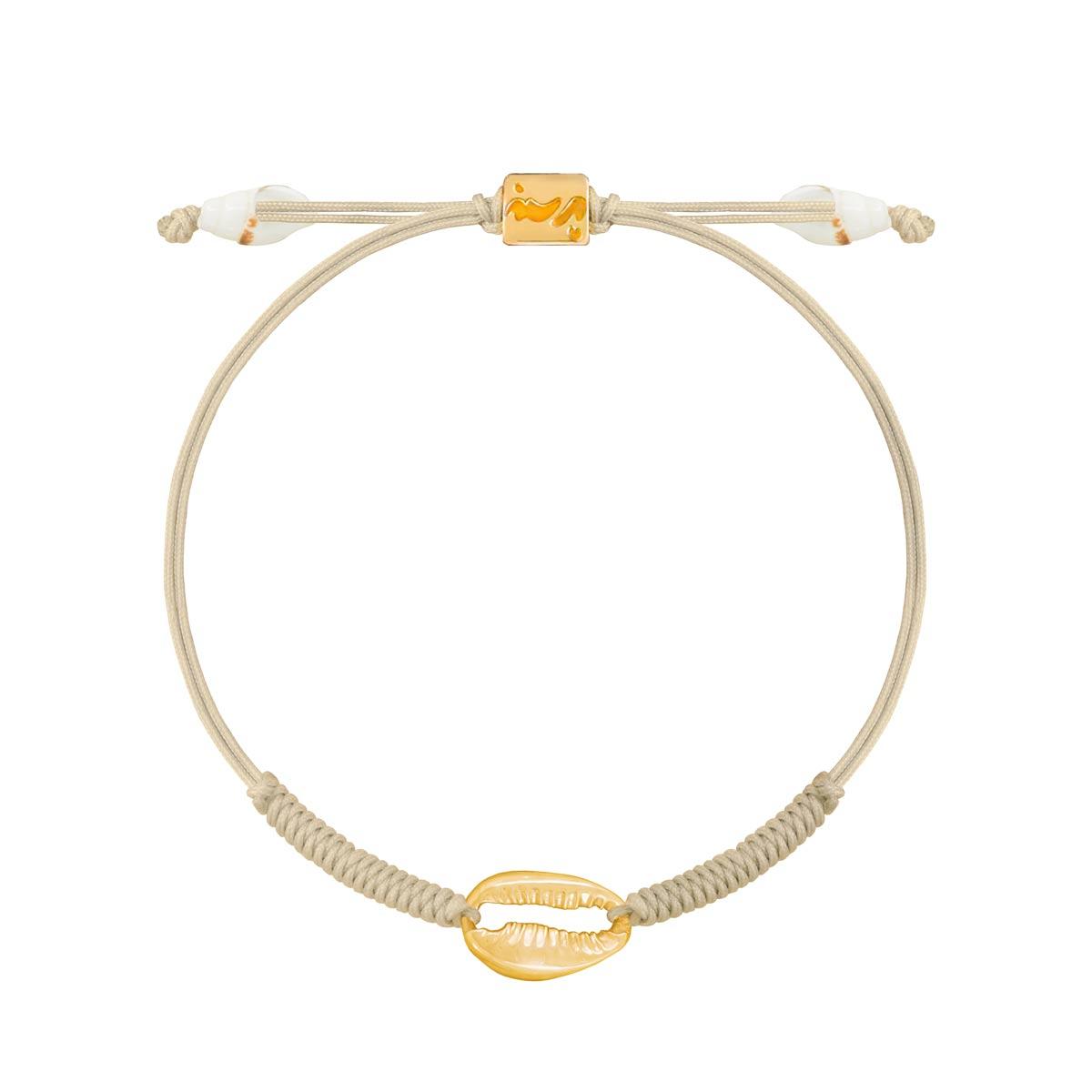 دستبند طلا بافت صدف