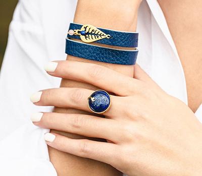 دستبند طلا چرم پرسته