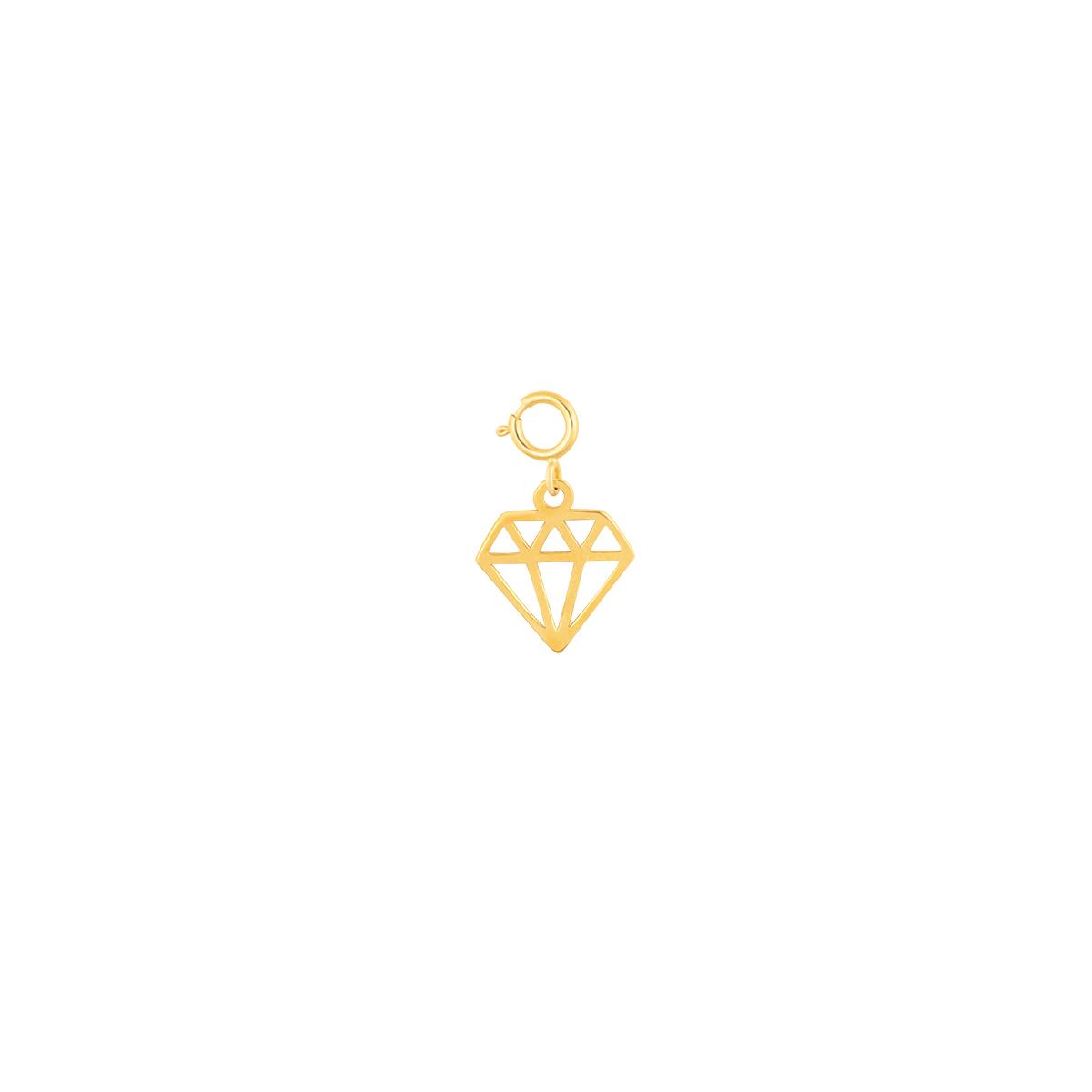 آویز طلا الماس پرسته