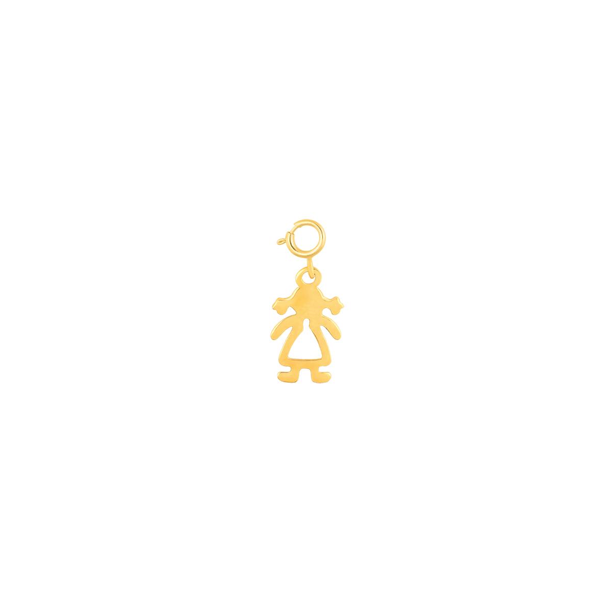 آویز طلا دختر کوچک پرسته
