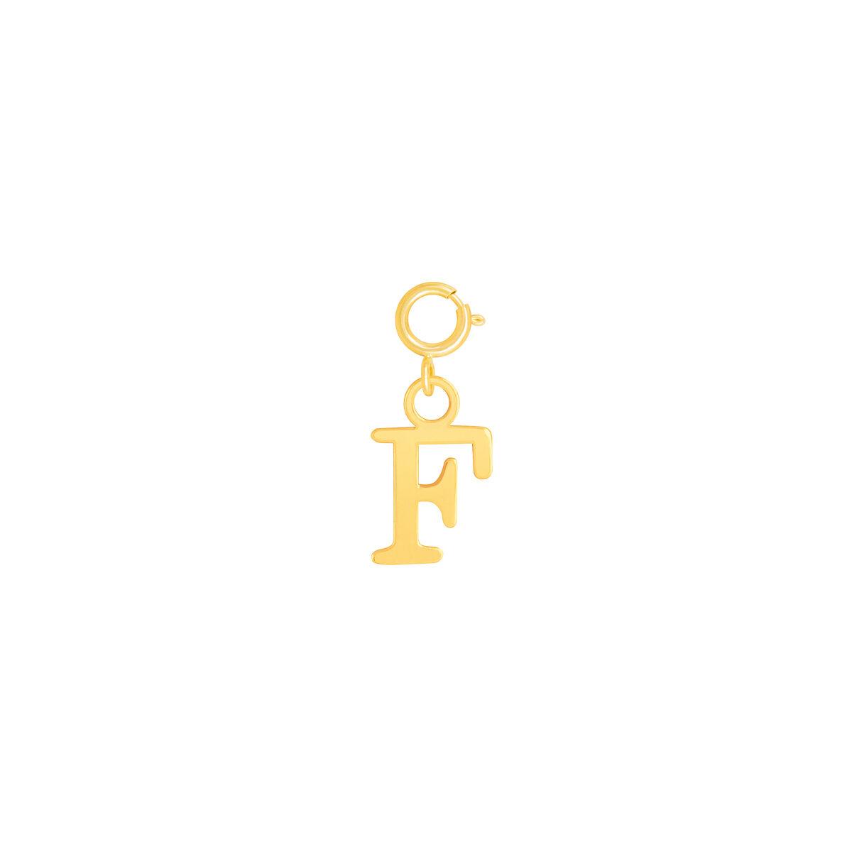 آویز طلا حرف F