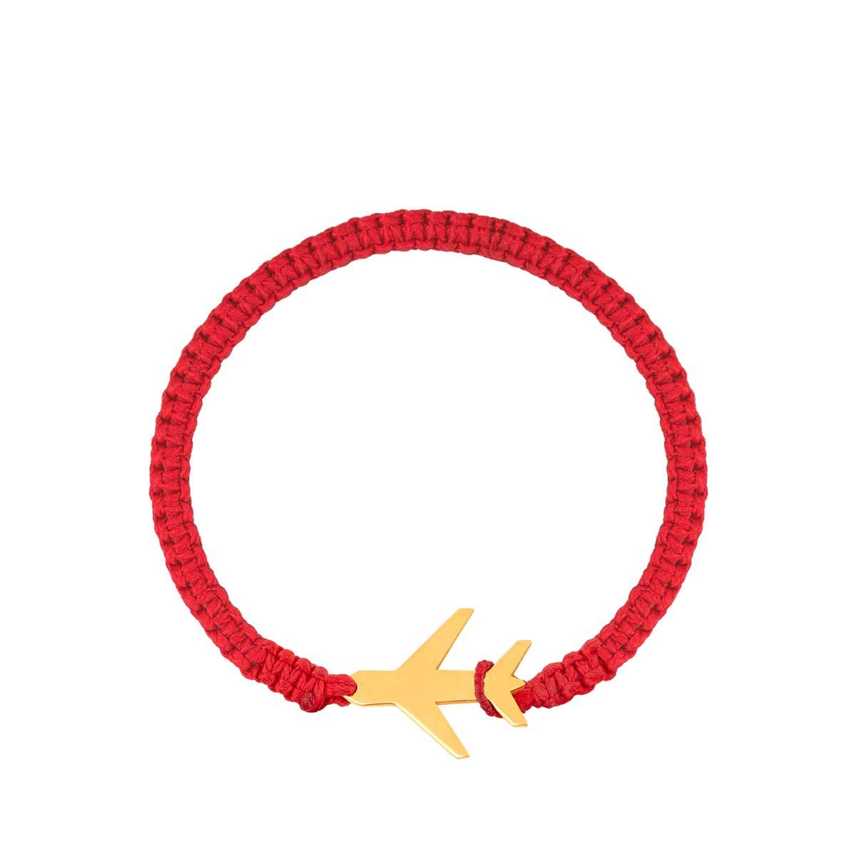 دستبند طلا بافت هواپیما پرسته