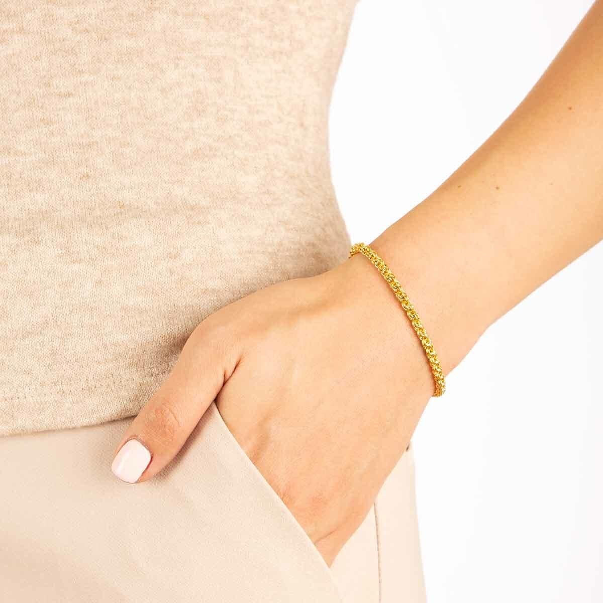 دستبند طلا داماس پرسته