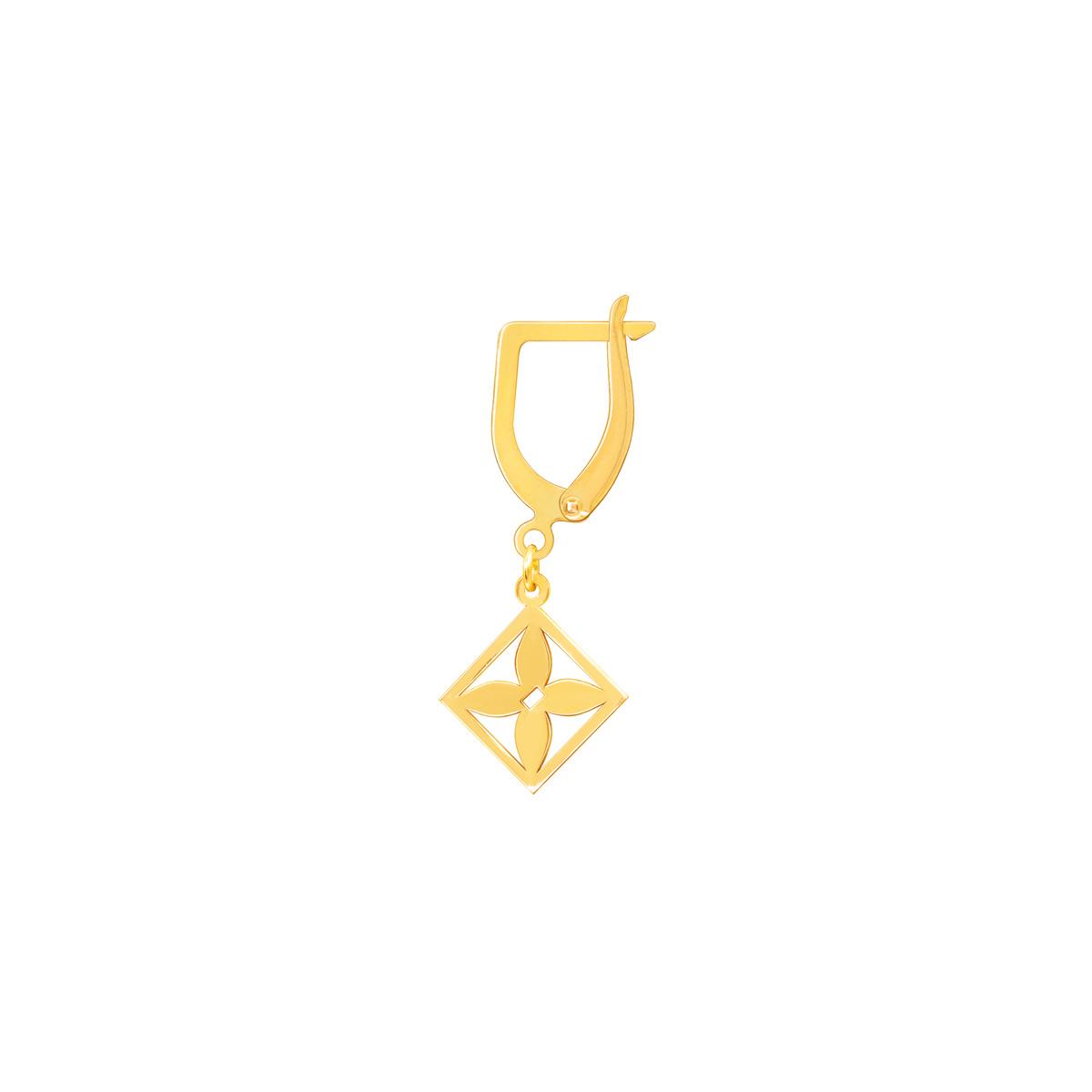 گوشواره طلا تک لنگه ای هور پرسته