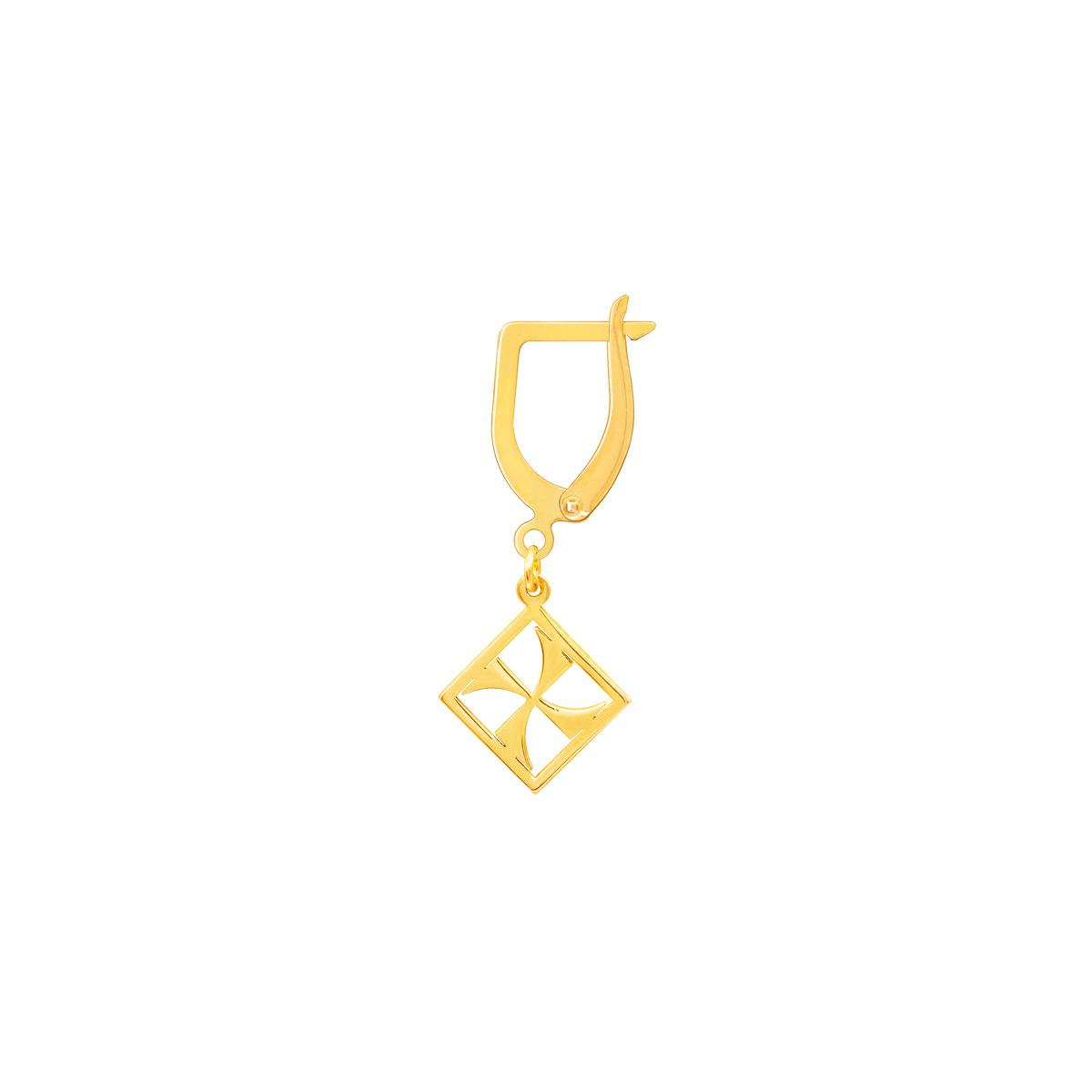 گوشواره طلا تک لنگه ای مهر پرسته