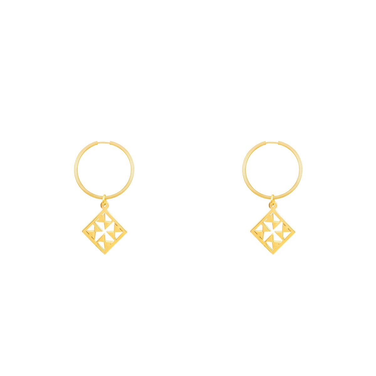 گوشواره طلا حلقه ای نورا پرسته