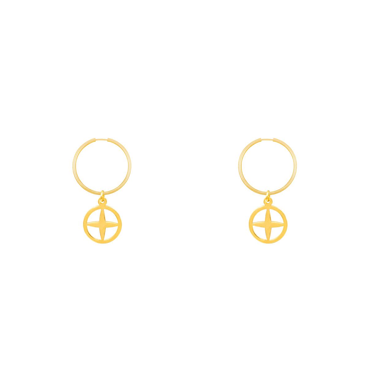 گوشواره طلا حلقه ای آفتاب پرسته