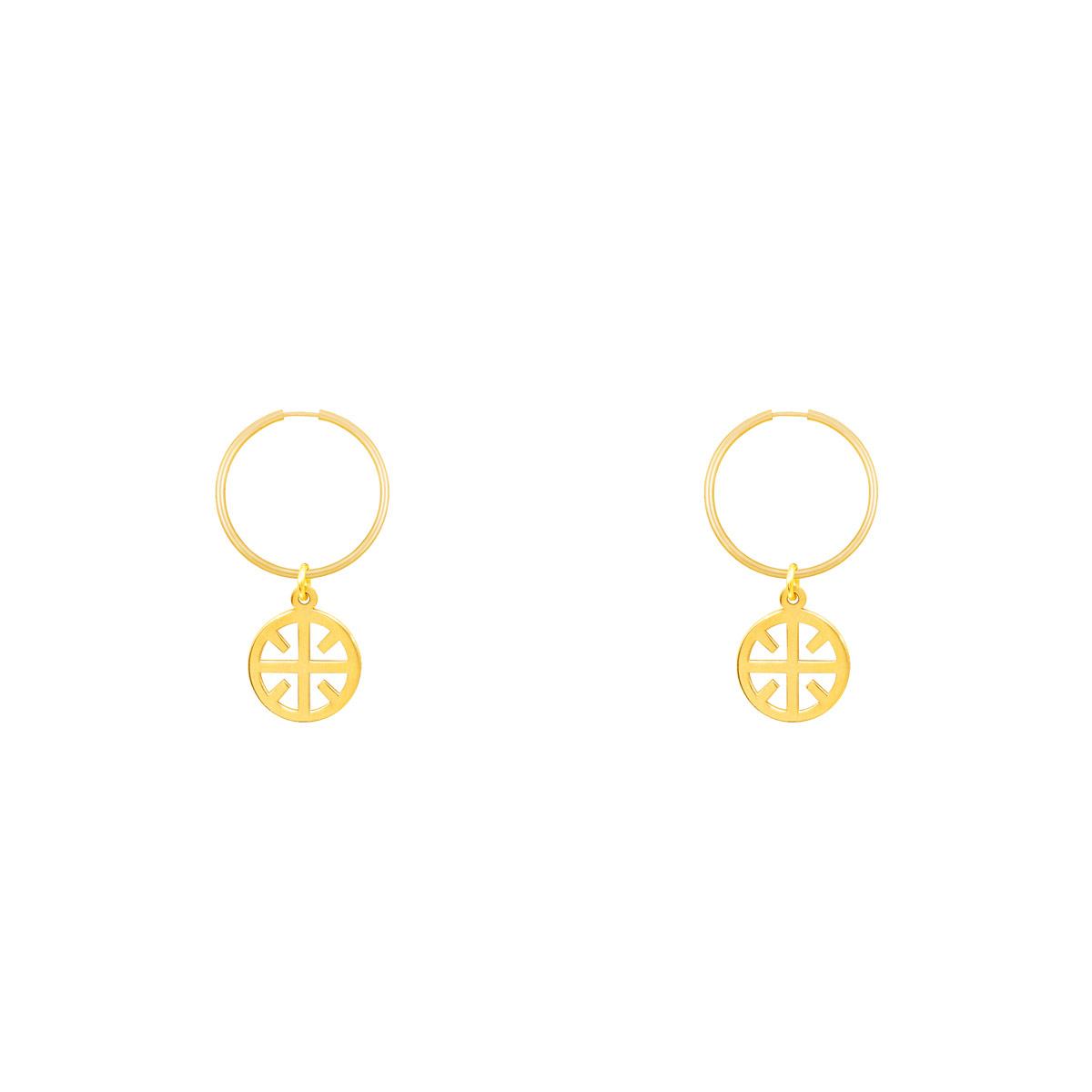 گوشواره طلا حلقه ای نور پرسته