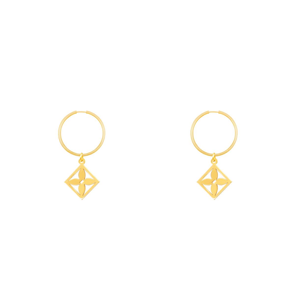 گوشواره طلا حلقه ای هور پرسته