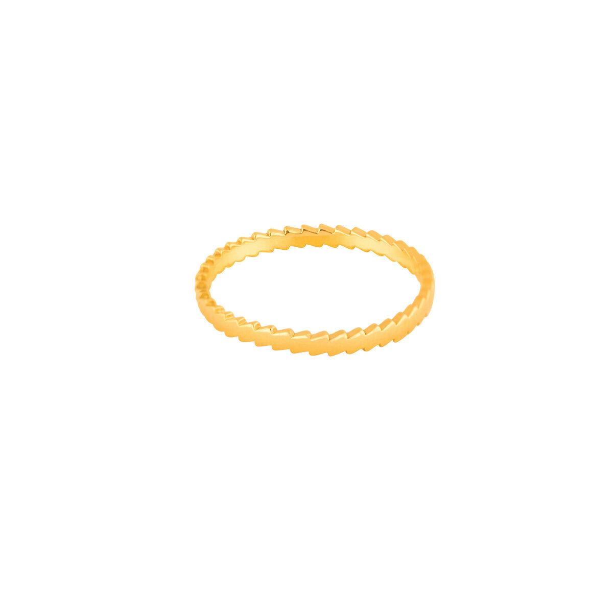 انگشتر طلا زیگزاک پرسته
