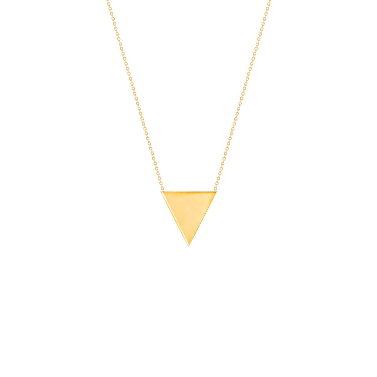 گردنبند طلا حکاکی مثلث
