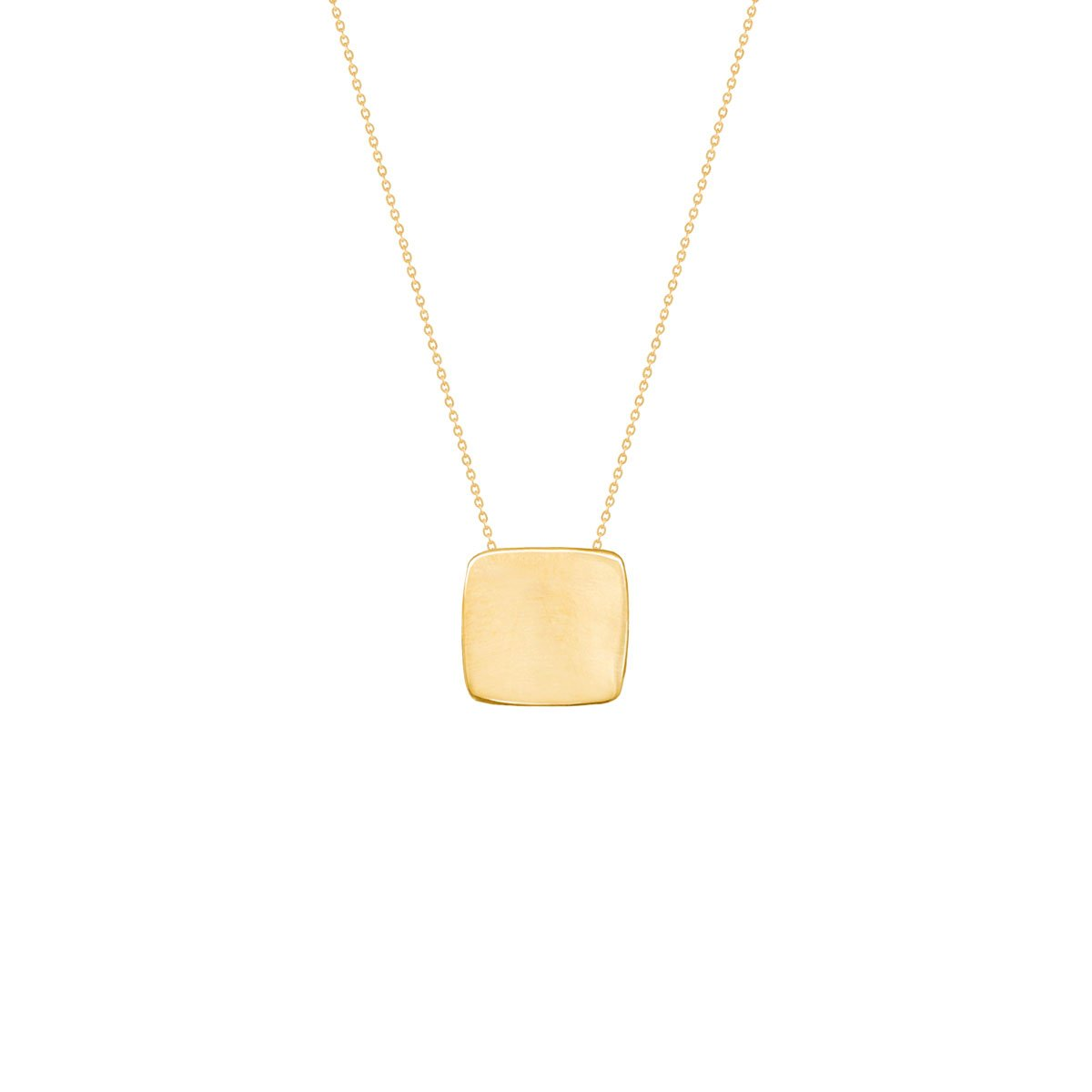 گردنبند طلا حکاکی مربع