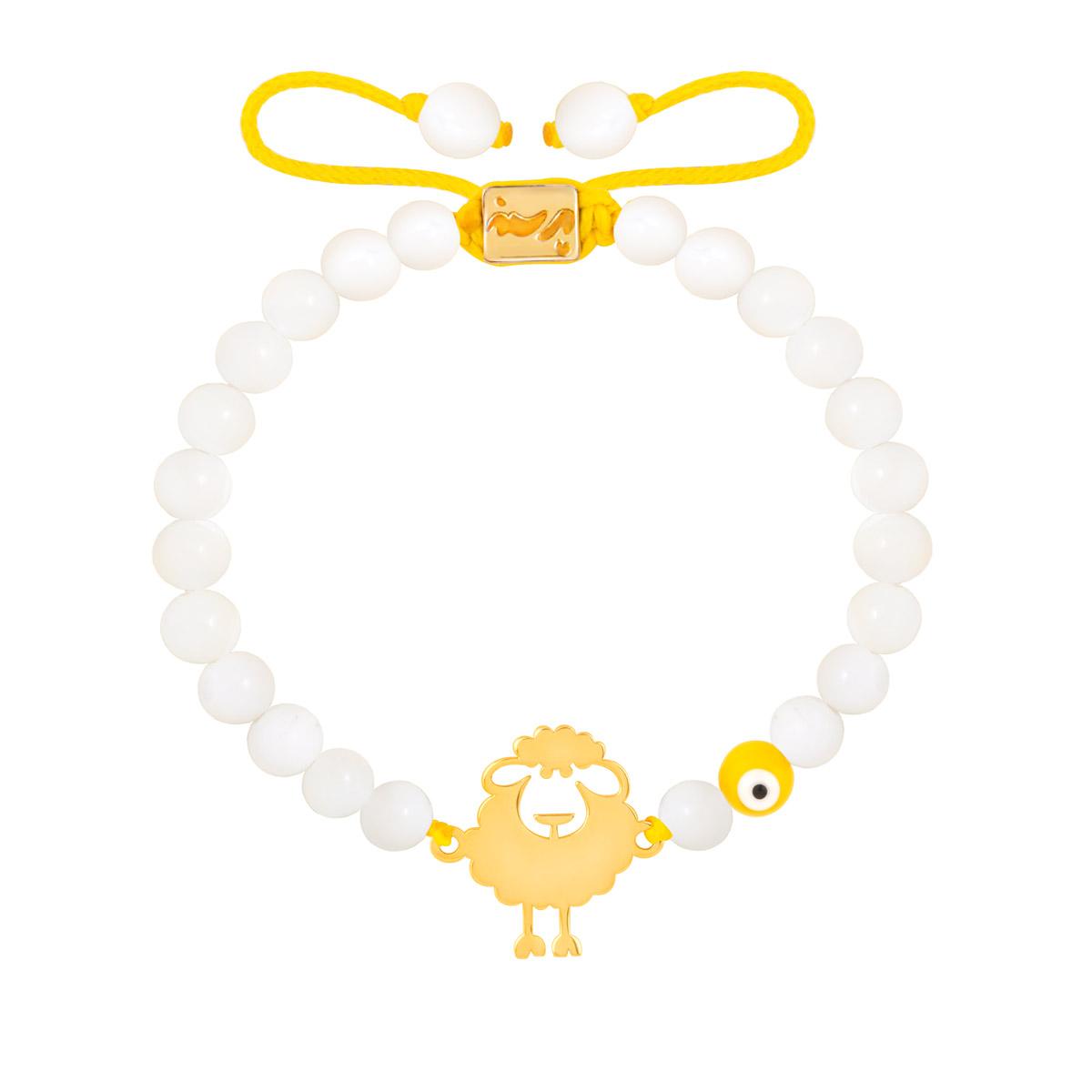 دستبند طلا بچه گانه سنگی SHEEPO