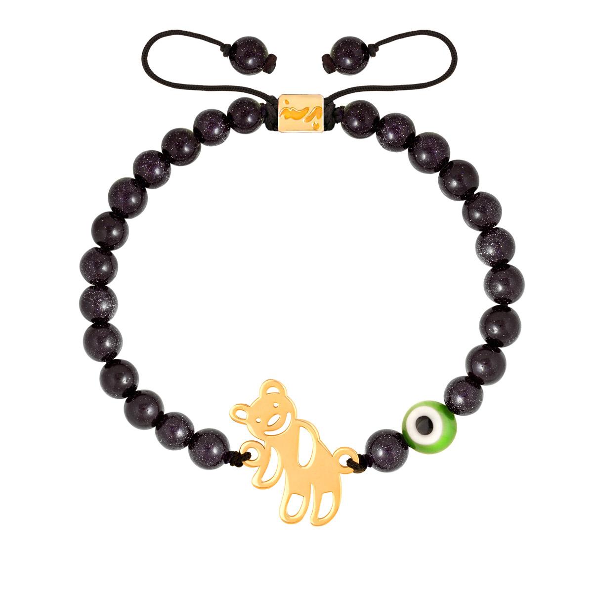 دستبند طلا بچه گانه سنگی TEDDY