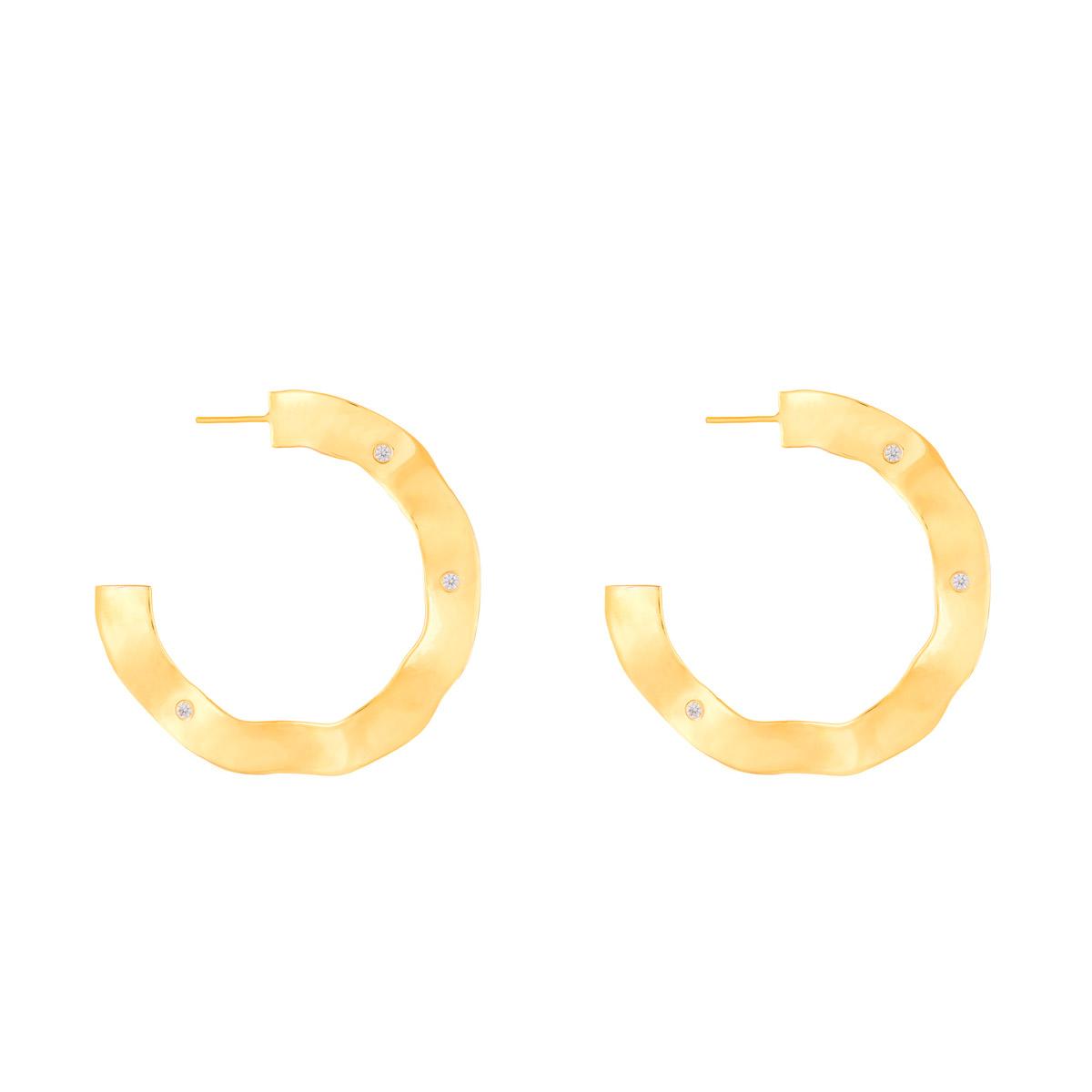 گوشواره طلا دایره و نگین ایشتار