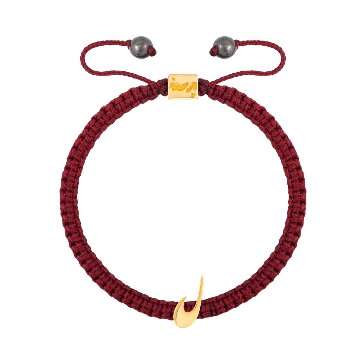 دستبند طلا بافت حرف ل