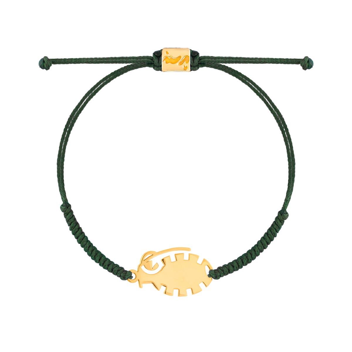 دستبند طلا بافت نارنجک