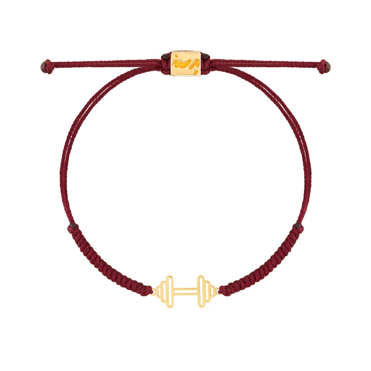 دستبند طلا بافت دمبل کوچک