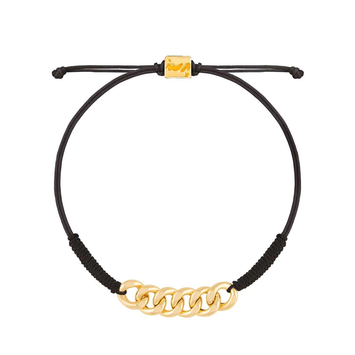 دستبند طلا بافت شش حلقه کارتیه
