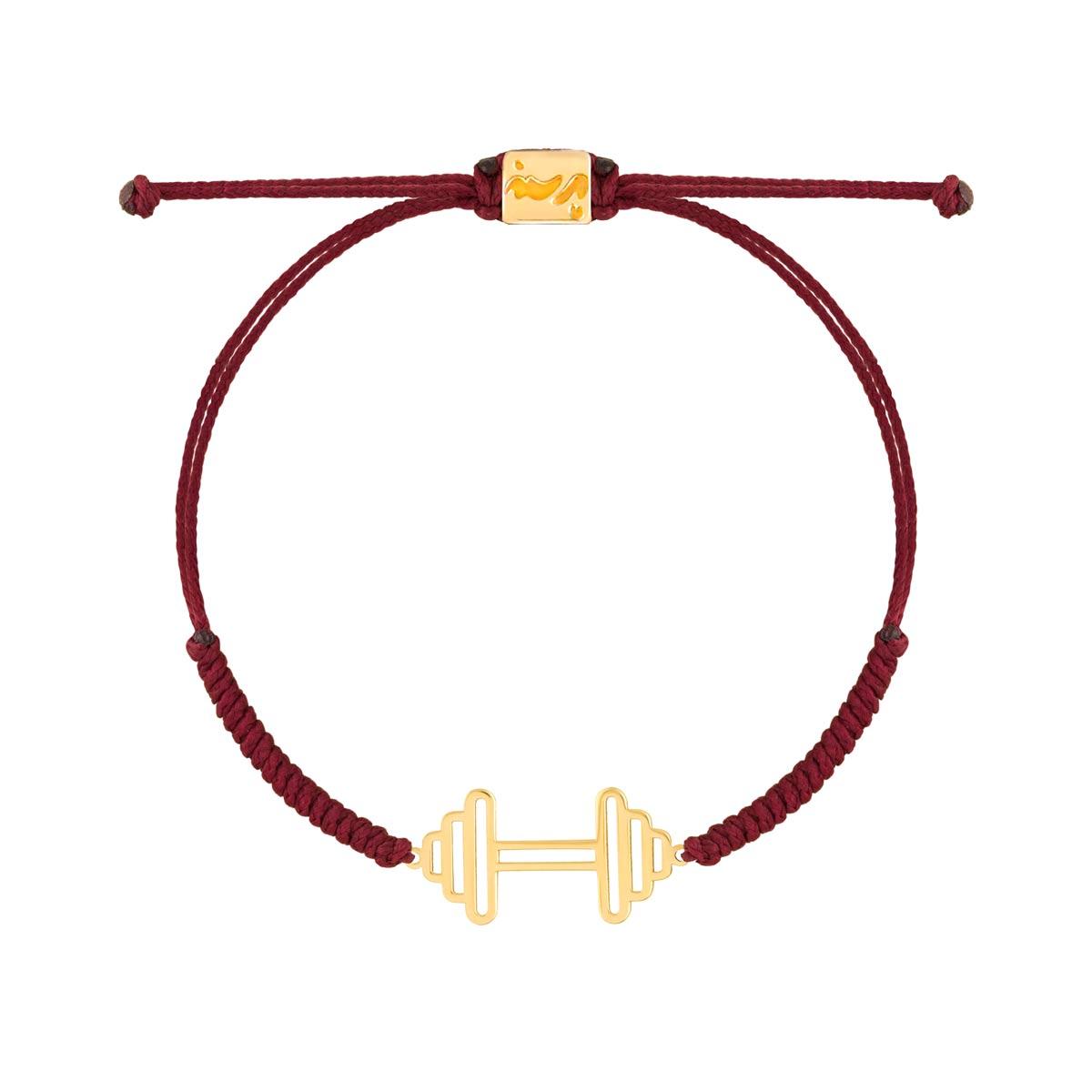 دستبند طلا بافت دمبل بزرگ