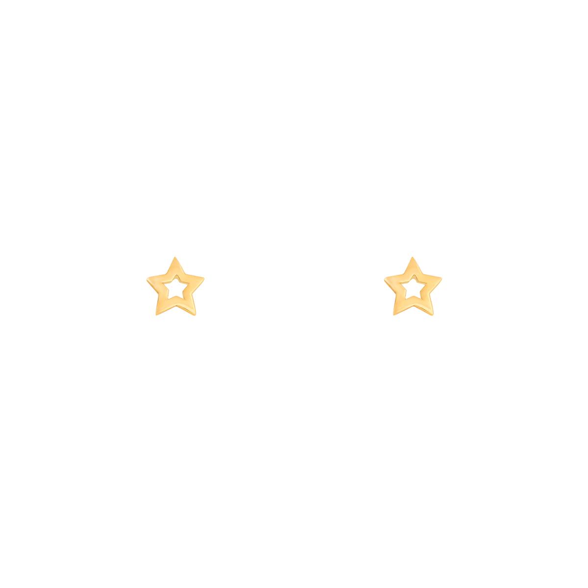 گوشواره طلا ستاره توخالی