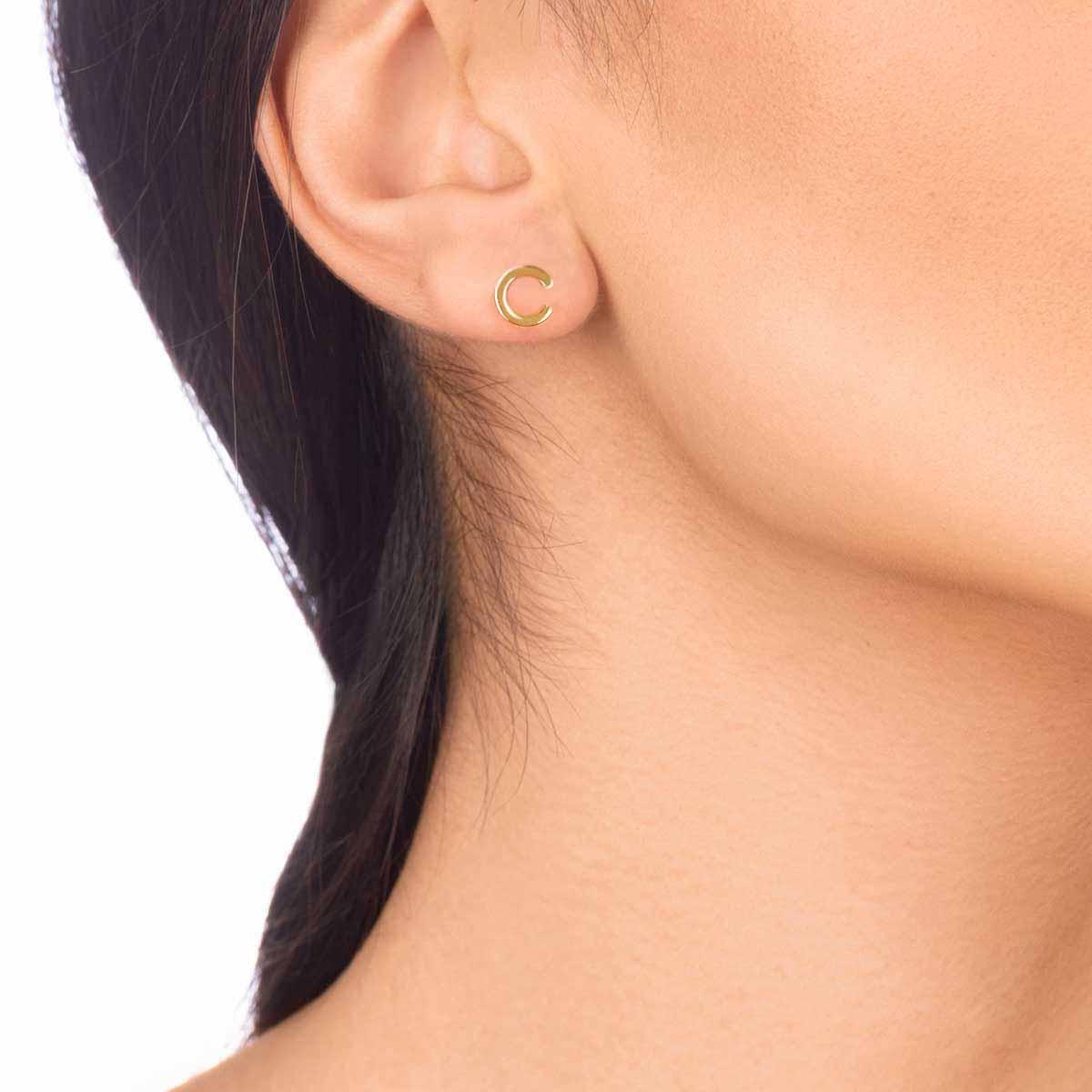 گوشواره طلا تک لنگه ای C